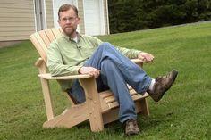 Ah! E se falando em madeira...: Cadeira Adirondack +1 plano