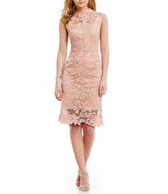 2bb7fd20157 Shop for Antonio Melani Madeleine Mock Neck Sleeveless Lace Sheath Dress at  Dillards.com.