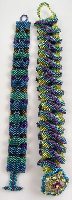 Sweet Freedom Designs: 'Royal Ruffles' Bracelet pattern by Hannah Rosner