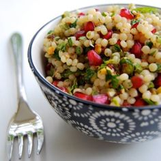 Giant (Israeli) Couscous with Pomegranate & Pistachios