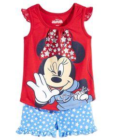 63e55b307bd Disney s Minnie Mouse Nannette Little Girls  2-Piece Shirt   Shorts Set Kids  - Sets   Outfits - Macy s