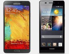Vergelijking Samsung Galaxy Note 3 vs Huawei Ascend P6 | Versus OS