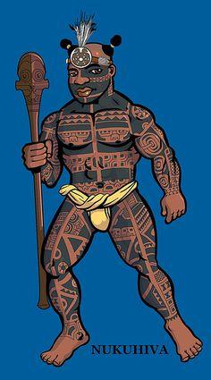 na toa nukuhiwa 17 May Tattoo Hurt, Fundoshi, Marquesan Tattoos, First Nations, Blue Backgrounds, Picture Tattoos, Art Tutorials, Headpiece, Mythology
