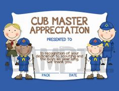 Cub Scouts/Boy Scouts Cub Master by CapturedbyJessPrints on Etsy, $7.00