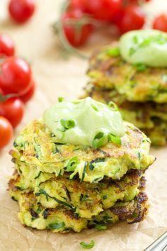 Zucchini Fritters with Avocado Crema | GI 365