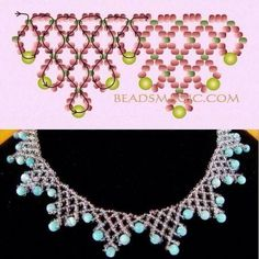 Pin by Camelia Erazo on ideas en bisuteria Beaded Necklace Patterns, Seed Bead Patterns, Beading Patterns, Bead Jewellery, Seed Bead Jewelry, Beading Techniques, Beading Tutorials, Beaded Crafts, Bijoux Diy