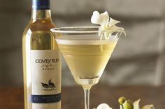 Cocktail recipe for an Ice-tini, a Covey Run Semillon Ice Wine and vodka drink.