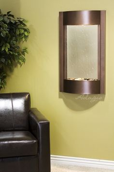 Wall Water Features - Serene Waters Mirror Wall Water Feature