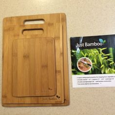 Quality Bamboo Cutting Board!   Unlike wood and plastic, Bamboo doesn't leave deep grooves and knife divits in the wood for bacteria to grow.  Light weight cutting boards are easy to handle and store. Gently wash with warm water and a mild soap,  then dry completely and store in a dry area. It is best to condition your boards with a food safe oil 1-2 times a month.