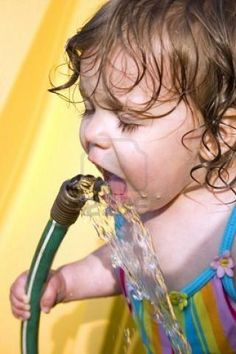 I remember drinking from the garden hose when I was a little girl : ))