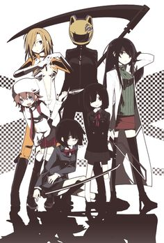 Women of Durarara!! / I don't know who the chick in the bodysuit or the tiny girl is, so I'm guessing they're light novel characters. I should really read those sometime.