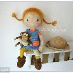 @Regrann from @rusi_nai - #crochetdoll #crochet #amigurumi #amigurumidoll #madebyrusi #pippi #pippilongstocking #вязаниекрючком #вязанаяигрушка #Regrann