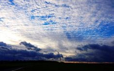 Preview wallpaper sky, clouds, evening