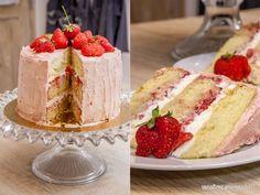 """Variations Gourmandes: Gâteau d'anniversaire """"layer cake"""" fraises et vanille"""