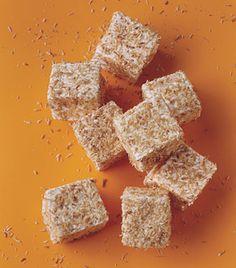 Toasted Coconut Marshmallow Rice Crispie Treat                  Toasted-Coconut Marshmallow Squares Recipe   at Epicurious.com