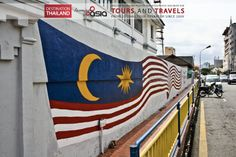 #street #Art #Malaysian #Flag painted on the wall in #GeorgeTown #Penang Malaysia Exclusive #Travels and #Tours in South East Asia with Incoming Asia.  The best #Holidays in #Thailand #Myanmar #Malaysia #Singapore #Indonesia #Vietnam #Laos #Cambodia  #Viaggi e #tours esclusivi nel sud est asiatico con #incomingasia Le migliori #vacanze in #Thailandia #Myanmar #Indonesia #Malesia #Singapore #Laos #Cambogia #Vietnam http://www.facebook.com/pages/Incoming-Asia-Tour-Operator/210782032279488