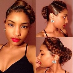 STYLIST FEATURE  This braided bun on @__porscheee done by #Detroit & #Miami Stylist @HairstylesByMary is so classy Perfect for any occasion She looks GORG❤️ #VoiceOfHair ========================= Go to VoiceOfHair.com ========================= Find hairstyles and hair tips! =========================