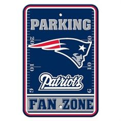 New England Patriots Parking Signs