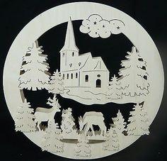 Original Erzgebirgisches Schwibbogen Fensterbild Lichterbogen Maße 32x32 cm 5-12