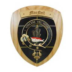 Our Clan Crest Wall Plaque. Handmade in Glasgow, Scotland. This is as Scottish a product...