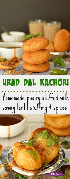 Crispy, flaky and delicious Urad Dal Kachori is my all time favorite snack. An irresistible and yummy snack filled with savory lentil stuffing and spices. And yes, it's Vegan!!