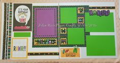 Birthday pages Using CTMH Jeepers Creepers