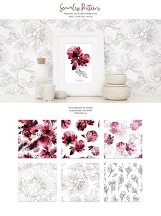 """""""Passion"""" Watercolor Collection ~ Graphic Objects ~ Creative Market"""