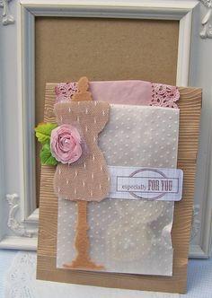 Curtsey Boutique Woodgrain Embossed Bags and Polka Dot Embossed Glassine Bag packaging idea