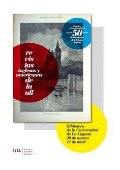 """Cartel de la exposición """"Las revistas inglesas y americanas de la ULL"""" Biblioteca General y de Humanidades. 20 de marzo al 11 de abril de 2014"""