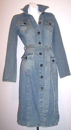 Seraph Dress M Belted Stretch Denim Bodycon Vintage Wash Sexkitten 90's Grunge M #Seraph #StretchBodycon #Casual