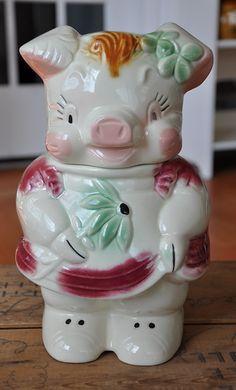Turnabout Pig Cookie Jar