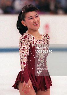 Japanese figure skater Midori Ito smiles at the en... Caption: ALBERTVILLE, FRANCE - FEBRUARY 21: Japanese figure skater Midori Ito smiles...