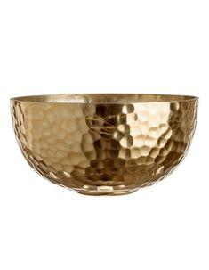 H&M Home : notre sélection déco à moins de 40 € - Elle Décoration Grand Vase En Verre, Vase Design, Grands Vases, Kitchenware, Tableware, Gold Home Decor, Gold Kitchen, Metal Bowl, H & M Home
