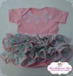 Lindo body de babadinhos para as princesas! A cor do body e dos babados poderá ser modificada conforme o gosto!
