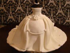 Wedding Dress Cake -- Cute for a bridal shower