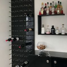 The ultimate storage for your re-stocked wine collection. Never run out again. Stainless steel pins for wine racks manufactured by 18TEN, we can also supply boards to any size, colour or shape. Electric Sheep, Wine Collection, Wine Racks, Wine Storage, Custom Cabinets, Custom Furniture, Recycling, Boards, Stainless Steel