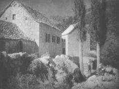 Tadeusz Wański collection / Abakarska, Zagroda / Chorwacja / 30 x 40 cm, bromolej