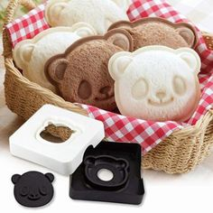 DIY Panda Sandwich Mold and stamper Set/ Pocket by Shoxcolate