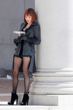Amanda Seyfried In Time the coat! the shoes! the hair!