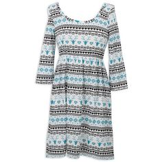 Ladies Black Aqua Knit Dress – Lolly Wolly Doodle