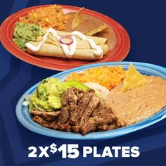Introducing our newest promotion! Join us for 2 plates for only $15.00! Choose from our fajita, chicken, sirloin or flauta plates. Offer valid 7 days a week from 2:00 - 7:00 p.m. Promotion not valid in Houston, New Braunfels, and San Antonio markets. Visítanos y compra 2 platillos de fajita, pollo, sirloin o flautas por sólo $ 15.00!. La oferta es válida de Lunes - Domingo de 2:00 - 7:00 p.m. Promoción no válida en el area de Houston, New Braunfels, y San Antonio. #tacopalenque…