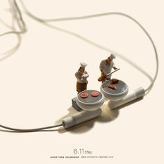 "Steak -  Tatsuya Tanaka's Daily Miniature Photo Project  ""Do you hear what's cooking?"" -Sizzle"
