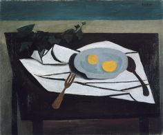 William Scott, [Still Life: Lemons on a Plate], 1948, Oil on canvas, 50.7 × 61 cm / 20 × 24 in, Scottish National Gallery of Modern Art, Edinburgh