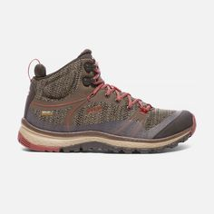 Keen Women's Terradora Waterproof Mid Boots Size In Canteen/Marsala Trail Shoes, Hiking Shoes, Running Shoes, Hiking Boots Outfit, Lightweight Hiking Boots, Waterproof Hiking Boots, Snow Boots, Winter Boots, Yellow Boots