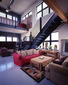WHA High Rise Design   Living Room & Staircase   Artisan Lofts on Osborne   Flat/2 Story Townhomes   Phoenix, AZ