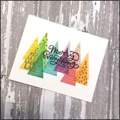 Loving the rainbow trend! I used Studio Calico stamps to create some rainbow trees.