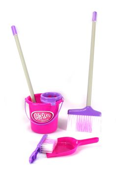 Little Helper Deluxe Pretend Play Toy Cleaning Play Set w/ Broom, Mop, Dust Pan, Brush, Bucket by Velocity Toys Little Girl Toys, Toys For Girls, Gifts For Girls, Toddler Toys, Baby Toys, Kids Toys, Christmas Toys, Christmas Wishes, Cleaning Toys