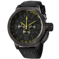 TW Steel Unisex Quartz Watch with Black Dial Chronograph Display and Black Leather Strap TW901  List Price:£425.00 On Sale : £251.75