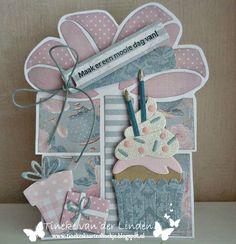 Tineke's kaartenhoekje Cupcake Cakes, Cupcakes, Marianne Design, Banners, Sprinkles, Birthday Cards, Card Ideas, Stencils, Presents