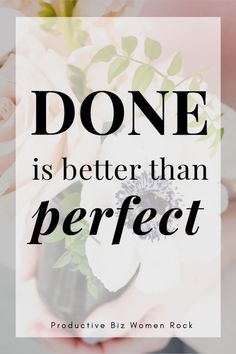 Because done is better than perfect    #productivityninja   #productivityiskey    productivity planner |   productivity hacks | productivity challenge | productivity planner free   printables Productivity Challenge, Work Productivity, Business Entrepreneur, Business Tips, Twitter Tips, Time Management Skills, How To Stop Procrastinating, Achieve Success, Instagram Tips